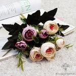 Bouquet de Fleurs Artificielles pour Tombe Blanc Cassé | Bouquet Artificiel | Bouqueternel