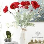 Coquelicots Artificiels Rouge | Fleurs Artificielles | Coquelicots Artificiels | Bouqueternel