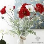 Coquelicots Capsulis Artificiels Rouge | Fleurs Artificielles | Coquelicots Artificiels | Bouqueternel