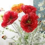 Coquelicots Rouges Artificiels | Fleurs Artificielles | Coquelicots Artificiels | Bouqueternel