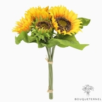 Fleurs de Tournesol Artificielles Jaune | Fleurs Artificielles | Tournesols Artificiels | Bouqueternel