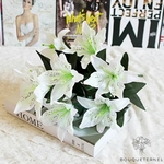 Fleur de Lys Mariage Blanche | Fleurs Artificielles | Fleurs de Lys Artificielles | Bouqueternel