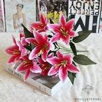 Fleur de Lys Mariage Rose | Fleurs Artificielles | Fleurs de Lys Artificielles | Bouqueternel