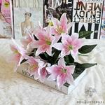 Fleur de Lys Mariage Rose Pâle | Fleurs Artificielles | Fleurs de Lys Artificielles | Bouqueternel