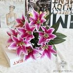 Fleur de Lys Mariage Violette | Fleurs Artificielles | Fleurs de Lys Artificielles | Bouqueternel