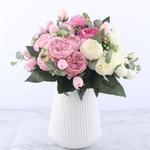 Bouquet de Fleurs Artificielles Haut de Gamme Pivoine Artificielle Bouqueternel