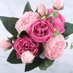 Pivoines Artificielles : Bouquet de Fleurs Artificielles Haut de Gamme Bouqueternel
