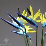 Strelitzia Nicolai Artificiel Bleus | Fleurs Artificielles | Fleurs Artificielles Oiseau de Paradis | Bouqueternel