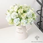 Petite Composition Florale pour Table Mariage | Fleurs Artificielles | Hortensias Artificiels |  Bouqueternel