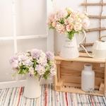 Petites Compositions Florale pour Table Mariage | Fleurs Artificielles | Hortensias Artificiels |  Bouqueternel