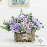 Décoration de Table dHonneur Mariage Champêtre | Fleurs Artificielles | Pivoines Artificielles | Bouqueternel
