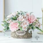 Décoration Table d'Honneur Mariage Champêtre | Fleurs Artificielles | Pivoines Artificielles | Bouqueternel
