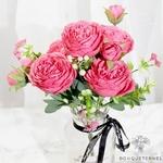 Décoration de Centre de Table Mariage Pas Cher | Fleurs Artificielles | Renoncules Artificielles | Bouqueternel
