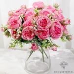 Décoration de Centre de Table pour Mariage Pas Cher | Fleurs Artificielles | Renoncules Artificielles | Bouqueternel