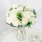 Centre de Table Fleur Mariage Champêtre | Fleurs Artificielles | Renoncules Artificielles | Bouqueternel