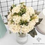 Décoration de Table Ronde pour Mariage | Fleurs Artificielles | Hortensias Artificiels | Bouqueternel