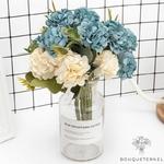 Décoration Table Ronde pour Mariage | Fleurs Artificielles | Hortensias Artificiels | Bouqueternel