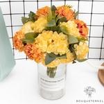 Décorations de Table Ronde pour Mariage | Fleurs Artificielles | Hortensias Artificiels | Bouqueternel