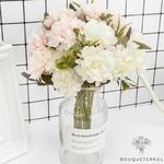 Décorations pour Table Ronde pour Mariage | Fleurs Artificielles | Hortensias Artificiels | Bouqueternel