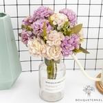Décorations Table Ronde pour Mariage | Fleurs Artificielles | Hortensias Artificiels | Bouqueternel