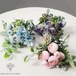 Composition Florale Artificielle Centre de Table | Fleurs Artificielles | Renoncules Artificielles | Bouqueternel