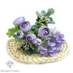 Composition Florale Artificielle Centre de Table Violette | Fleurs Artificielles | Renoncules Artificielles | Bouqueternel