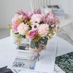 Centre de Table Mariage Bohème Chic | Fleurs Artificielles | Hortensias Artificielles | Bouqueternel