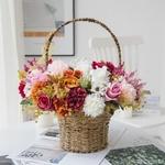 Centres de Tables pour Mariage Bohème Chic | Fleurs Artificielles | Hortensias Artificielles | Bouqueternel