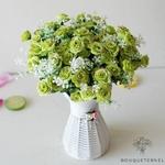 Composition Florale Centre de Table Pas Cher Vertes  | Fleurs Artificielles | Renoncules Artificielles | Bouqueternel