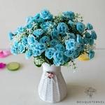 Composition Florale pour Centre de Table Pas Cher | Fleurs Artificielles | Renoncules Artificielles | Bouqueternel