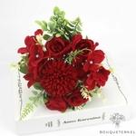 Composition Florale artificielle Centre de Table pour Mariage | Fleurs Artificielles | Hortensias Artificiels | Bouqueternel