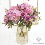 Composition Florale artificielle pour Centre de Table pour Mariage | Fleurs Artificielles | Hortensias Artificiels | Bouqueternel
