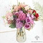 Composition Florale Centre de Table pour Mariage | Fleurs Artificielles | Hortensias Artificiels | Bouqueternel