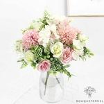 Composition Florale pour Centre de Table pour Mariage | Fleurs Artificielles | Hortensias Artificiels | Bouqueternel