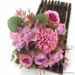 Composition Florale Centre de Table pour Mariage Violets | Fleurs Artificielles | Hortensias Artificiels | Bouqueternel