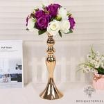 Composition Florale Centre de Table Mariage | Fleurs Artificielles | Roses Artificielles | Bouqueternel