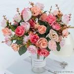 Centre de Tables Mariage Chic Pas Cher | Fleurs Artificielles | Roses Artificielles | Bouqueternel