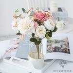 Centre de Table Fleur Champêtre   Fleurs Artificielles   Roses Artificielles   Bouqueternel