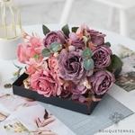 Centres de Tables en Fleur Champêtre   Fleurs Artificielles   Roses Artificielles   Bouqueternel