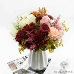 Centre de Table Mariage Nature Chic | Fleurs Artificielles | Roses Artificielles | Bouqueternel