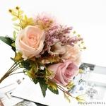 Centre de Table pour Mariage Nature Chic | Fleurs Artificielles | Roses Artificielles | Bouqueternel