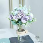 Déco Centre de Table de Mariage Pas Cher | Fleurs Artificielles | Hortensias Artificiels | Bouqueternel