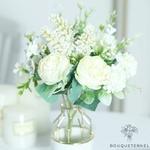 Décoration Centre de Table pour Mariage Pas Cher | Fleurs Artificielles | Hortensias Artificiels | Bouqueternel