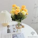 Centre de Table Ronde de Mariage | Fleurs Artificielles | Renoncules Artificielles | Bouqueternel