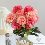 Centre de Table Ronde pour Mariage | Fleurs Artificielles | Renoncules Artificielles | Bouqueternel