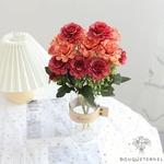 Centres de Table Ronde Mariage | Fleurs Artificielles | Renoncules Artificielles | Bouqueternel