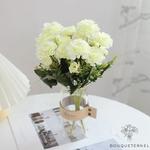 Centres de Tables Ronde Mariage | Fleurs Artificielles | Renoncules Artificielles | Bouqueternel
