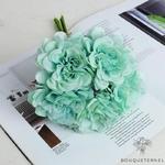 Déco Table Ronde pour Mariage Bleues | Fleurs Artificielles | Renoncules Artificielles | Bouqueternel