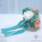 Bouquet de la Mariée Artificiel Turquoise | Fleurs Artificielles | Renoncules Artificielles | Bouqueternel