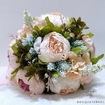 Bouquet de la Mariée de Pivoine Champêtre | Fleurs Artificielles | Pivoines Artificielles | Bouqueternel